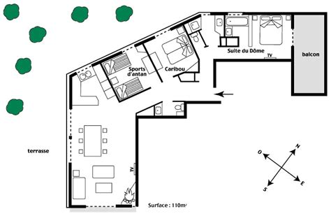 plan com lodge at val appartement chalet de prestige 224 val d