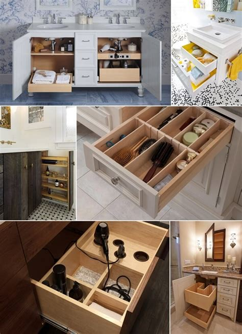 bathroom vanity organizers ideas clever bathroom vanity storage ideas