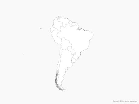 south america map drawing vector map of south america with countries outline