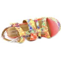 multi color sandals dollhouse thrilling textile multi color platform