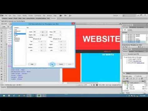 membuat web sederhana dengan dreamweaver 8 cara belajar macromedia dreamweaver 8 03 cara belajar