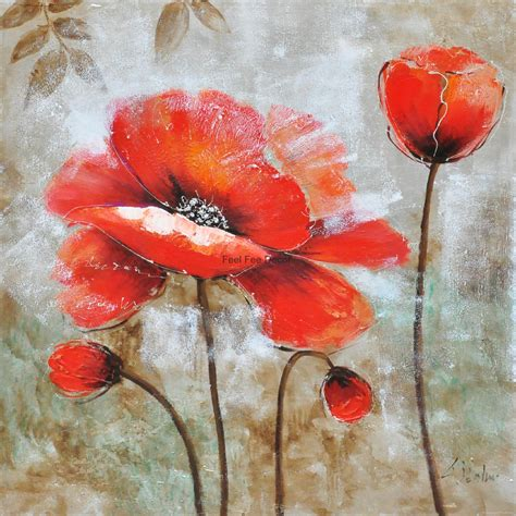modern home decorative floral oil painting picture