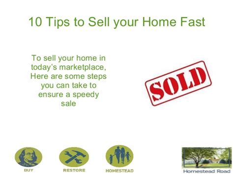 10 tips to sell your home faster