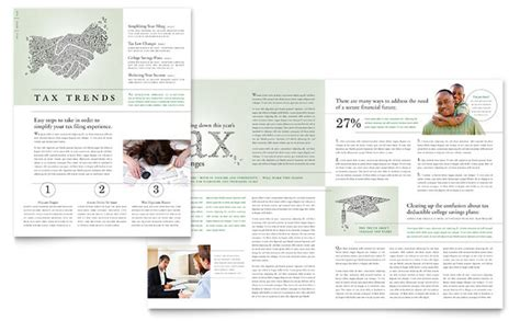 newsletter layout services accounting tax services newsletter template design