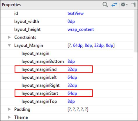 Xml Layout Properties | designing an xml layout for portrait view