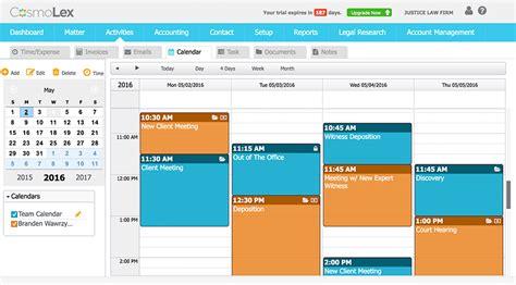 Calendar Management Simplified Practice Management Cosmolex