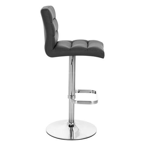 bar stools chrome lush adjustable height swivel armless bar stool with