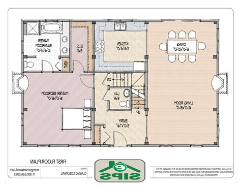 open floor plan layout small open floor plans homes