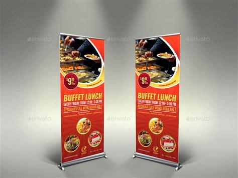 sushi restaurant banner design by dreadjim on deviantart restaurant rollup signage template vol7 by owpictures