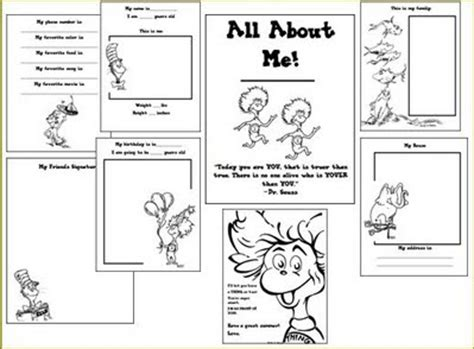 free printable worksheets dr seuss free dr seuss all about me printable book dr seuss
