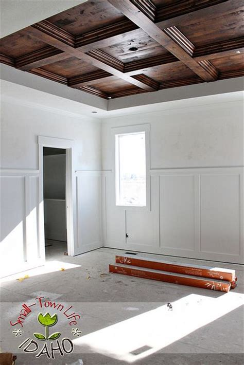 ceiling wood trim diy master bedroom wood coffered ceiling wood trim wood