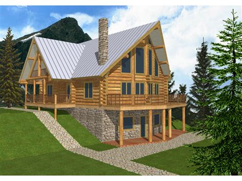 A Frame Style House Plans Mountview A Frame Log Home Plan 088d 0003 House Plans
