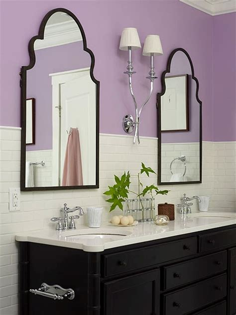 lavendar bathroom a hint of purple our empty nest