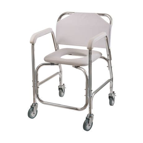 rolling shower chair with padded seat dmi rolling shower transport chair with padded toilet seat