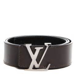 louis vuitton leather lv initials belt 85 34 brown 97344