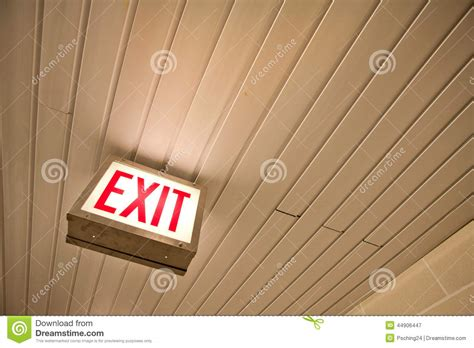exit sign light box light box exit sign stock photo image 44906447