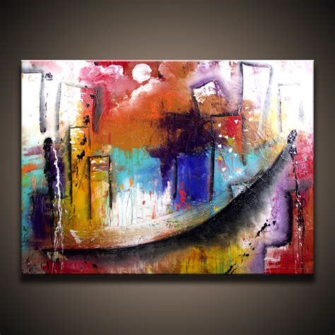 how to paint acrylic on canvas in abstract acrylic abstract paintings acrylic city abstract on