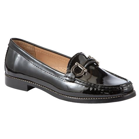 lewis loafers lewis essen patent leather horsebit moccasin loafers
