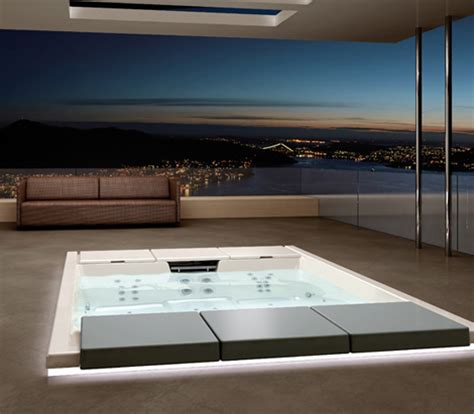 recessed bathtub outdoor recessed bathtub from teuco new hydrospa seaside 640