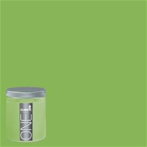 shop olympic 8 oz green pear interior satin paint sle at lowes