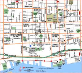 road map of toronto downtown toronto canada