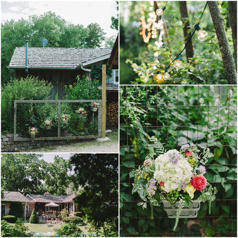 a vintage style backyard wedding rustic wedding chic