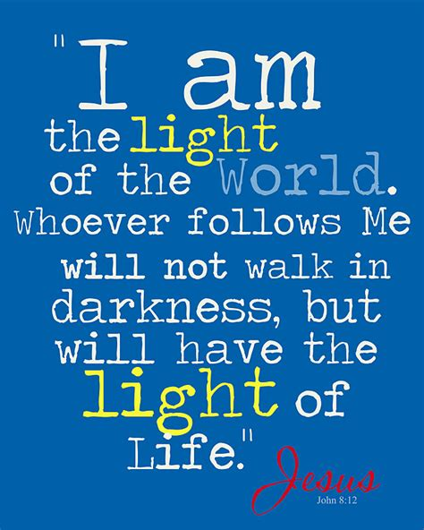 I Am The Light Of The World by Shine Design 4 Him 8 12