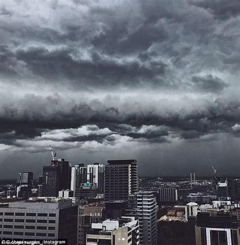 Lightning Car Melbourne Spectator Captures Bolt Of Lightning During Afl