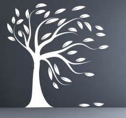 Tree Silhouette Wall Stickers modern decal silhouette tree wall sticker white by couturedecals