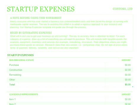expense report template excel 2010 startup expenses for microsoft excel