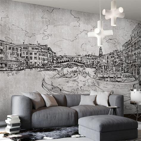 black and white mural wallpaper custom photo black and white graffiti mural painting and
