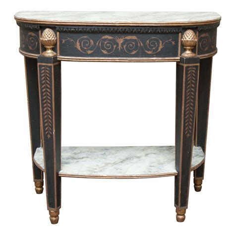 Painted Console Table Faux Painted Console Table At 1stdibs