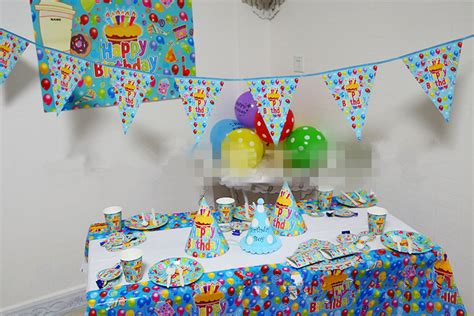 happy birthday table design new design luxury baby happy birthday party packs supplies