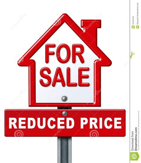 home sale reduced price sign royalty  stock images