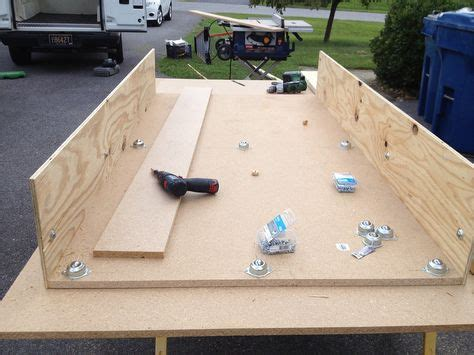 diy bed slide wood shop garage storage ideas on pinterest french cleat