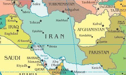 middle east map baghdad iran afghanistan pakistan to expand trade ties
