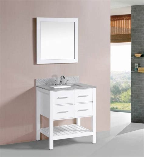 30 White Bathroom Vanity by 30 Inch Belvedere White Bathroom Vanity W Marble Top Ebay
