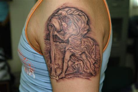 tribal scorpio 3d tattoo on right back shoulder photo 6