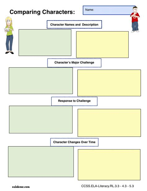 search results for graphic organizers comparison chart