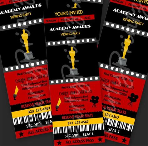 free printable award tickets academy awards invitation wording img3 etsystatic com