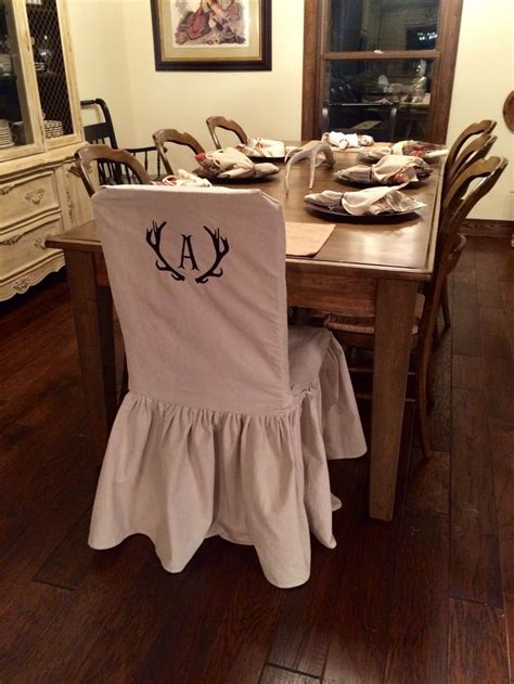 slipcovers made from drop cloths chair slipcover with monogram made out of drop cloth