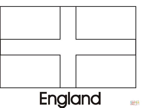 England Flag Coloring Page Free Printable Coloring Pages Flag Colouring Pages