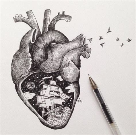 heartbeat tattoo drawing tattoo idea anatomical heart ink or stress