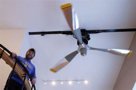 airplane propeller ceiling fan pilot makes dc 6 propeller the hub of his chena ridge home