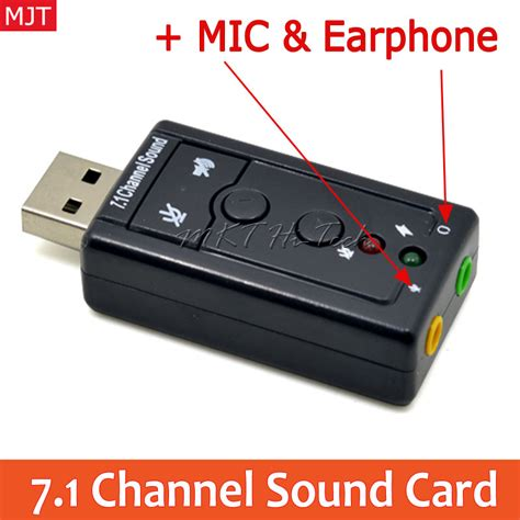 Sound Card Usb 7 1 Channel external usb to 3d audio usb sound card adapter 7 1