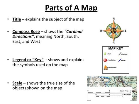 A Section On A Map That Explains The Maps Features by World Geography Introduction Basic Review Ppt
