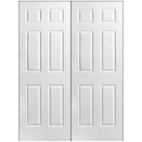 Home Depot White Interior Doors Masonite 48 In X 80 In 6 Panel Primed White Hollow Textured Composite Prehung Interior