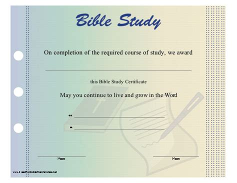 bible study certificate templates free bible course diploma search engine at search