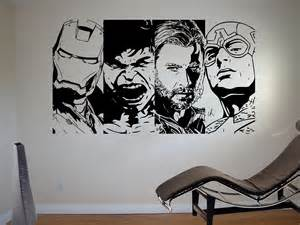 Comic Wall Stickers details about retro avengers wall art sticker comic vinyl mural wa619