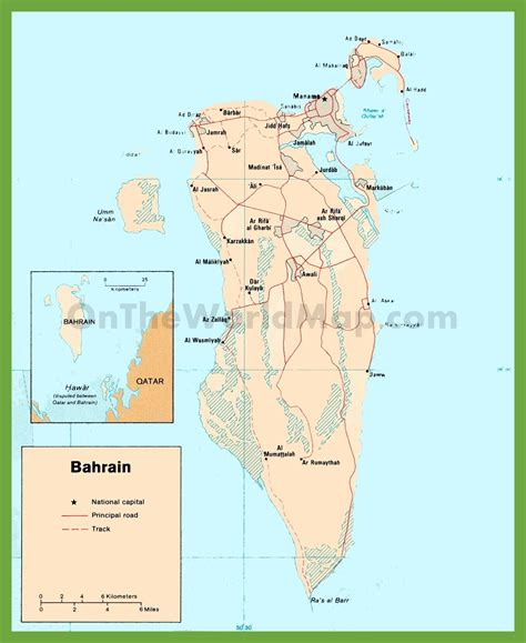printable road map of bahrain road map of bahrain